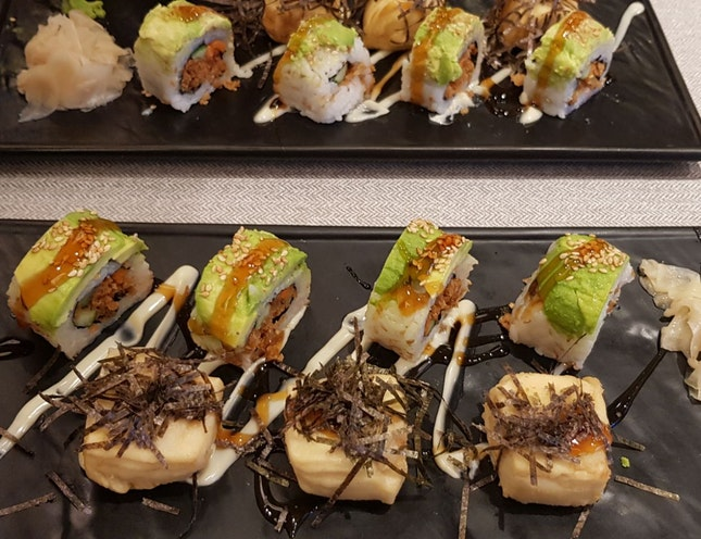 Tempura Tofu Sushi