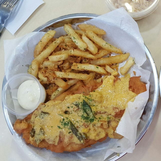 Salted Egg Fish And Chip