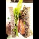 Super filling Mushroom Teriyaki Millet Burger @cedelesingapore .