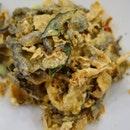 Deep-Fried Fish Skin coated with Salted Egg Yolk.
