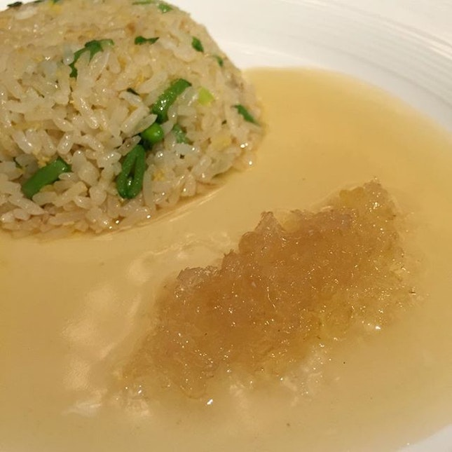 Braised Ginger Rice with Bird's  Nest.