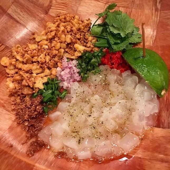 [Seaviche] - see coconut   smoked chips   corn .