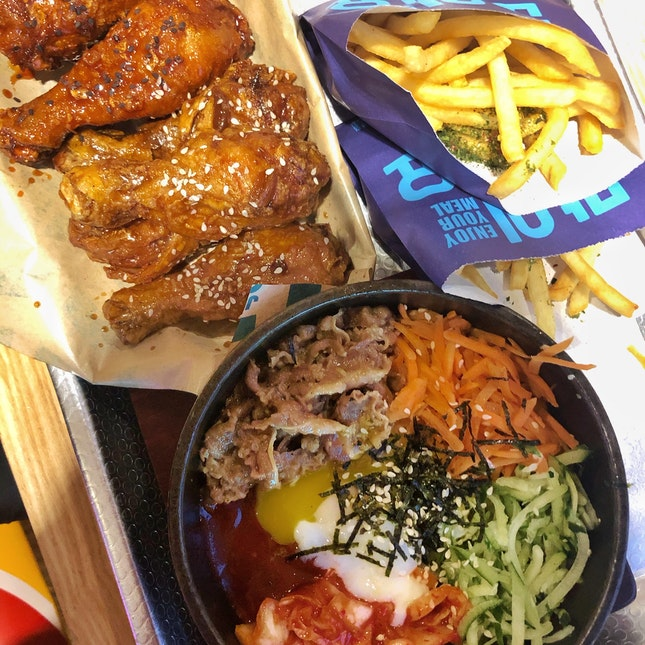 Korean Fried Chicken x Bibimbap