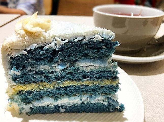 Blue Pea Coconut Cake from @cedelesingapore!