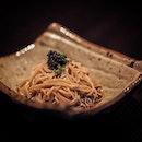 Handmade Soba, Caviar, Olive oil ($28++).