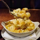 A good old mac and cheese with cavatappi pasta and white cheddar.