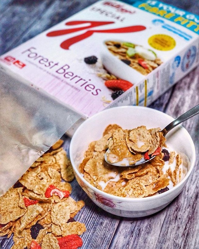 Been having Special K for breakfast this week to give us the right nutrients (folic acid, iron, vitamin D, B12, B3 and B6) to energize us for the long day of work ahead!