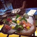 Sashimi galore~ #welcometreat #sashimilover #akari #japanesefood #burpple