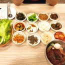 Korea bbq meat and Cold Noodle