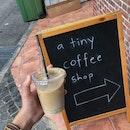 a tiny coffee shop !