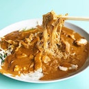 Satay Bee Hoon [S$4.00] ・ Super yummy plate of noodles drenched in satay sauce.