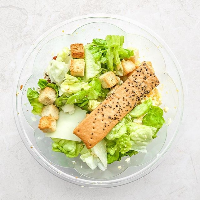 Hail Caesar Salad [S$1.00] ・ Romaine | Bacon Bits | Shaved Parmesan | Grated Egg | Croutons | Classic Caesar ・ Yup there's no typo error, it's ONE buck!