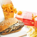 Double Prosperity Beef Burger Value Meal [S$11.25] ・ @McdSG Prosperity Burger is back for CNY and I definitely couldn't miss it!