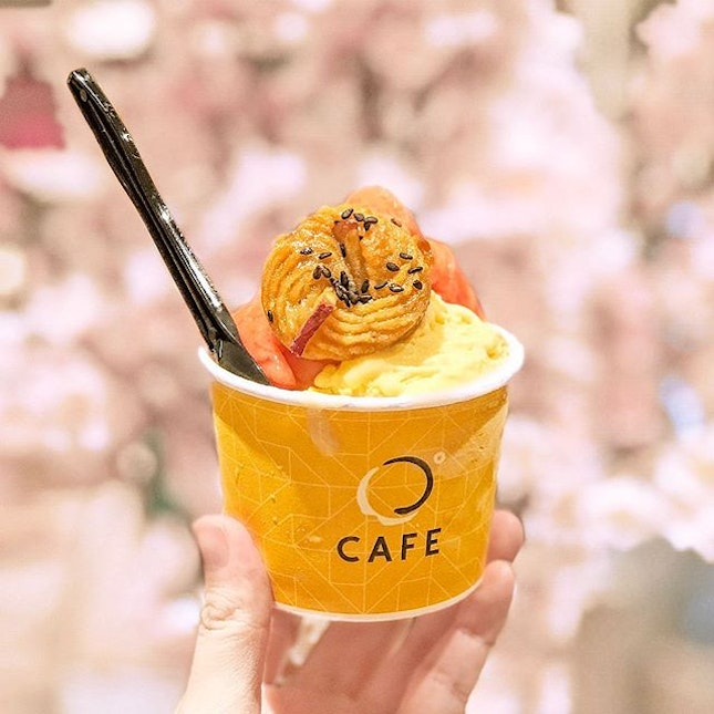 Sweet Potato   Amao Gelato [S$7.50 + S$3.00] ・ Featuring one of my favourite gelato places at @JewelChangiAirport - JW360° Cafe.