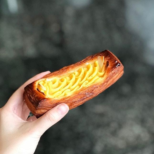 Sweet Potato Danish [S$3.00] Uji Matcha Cream & Chocolate [S$3.00] ・ @Donq_Depuis1905's stuff are impressive!