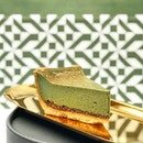 Matcha Baked Cheese [S$6.50] ・ JW360° Cafe's Matcha Baked Cheese - Matcha Cheese Cake w Fig Wine Paste.