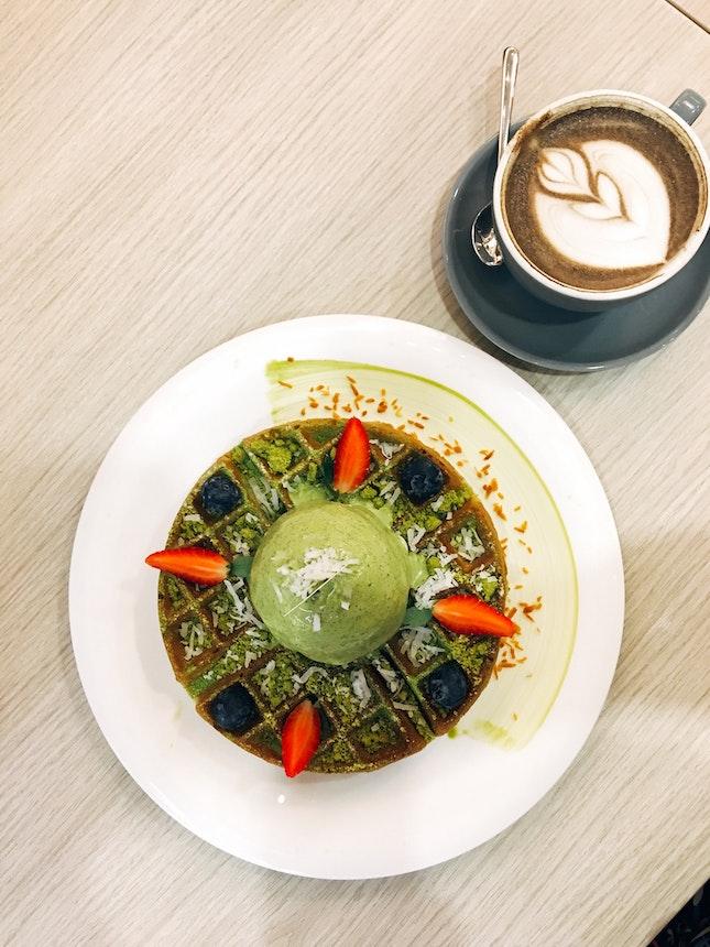 Green Tea Waffle