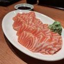 Salmon everything - Salmon Sashimi, Mentaiko Salmon Skin, Mentaiko Chawanmushi.