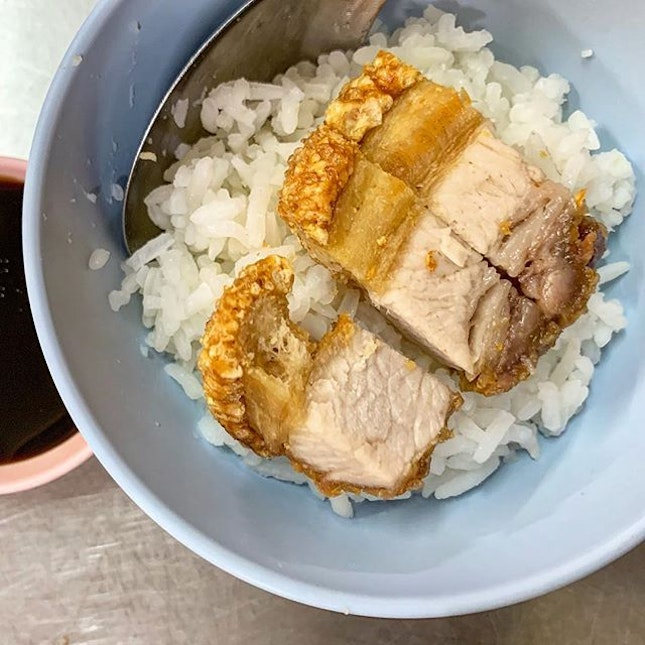 Crackling Pork Belly with Rice @ Mr.