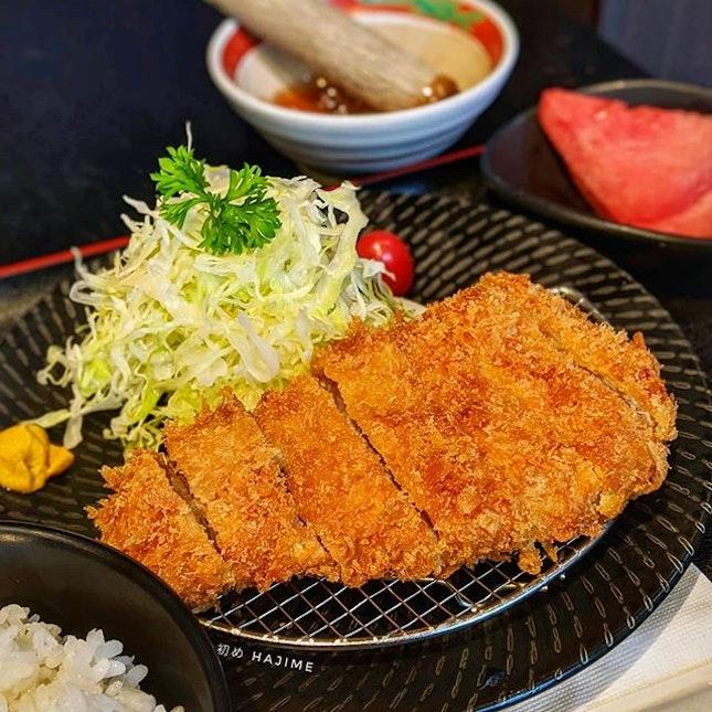 Pork Loin Tonkatsu 豚ロースとんかつ @ Hajime 初め : : #singapore #sg #igsg #sgig #sgfood #sgfoodies #food #foodie #foodies #burpple #burpplesg #foodporn #foodpornsg #instafood #gourmet #foodstagram #yummy #yum #foodphotography #nofilter #dinner #japanesefood #pork #tonkatsu #hajime #豚肉 #豚ロース #とんかつ