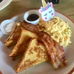 French Toast With Bacon And Eggs ($16.90++)