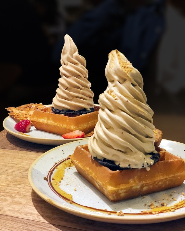 1-For-1 Single Waffle w/ Softserve ($12 for 2)
