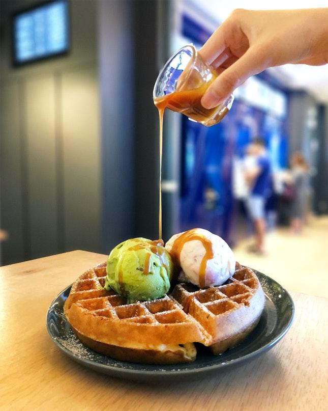 Double Scoop Waffles ($12.90)
