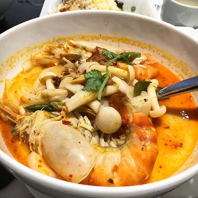 Tom Yum noodle soup from Greyhound Cafe.
