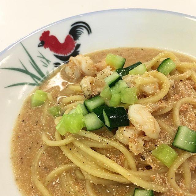 Mentaiko + Prawn Spaghetti