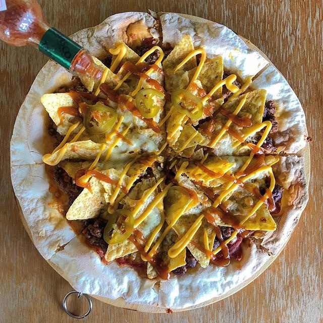 Cheesy Beef Nachos Pizza