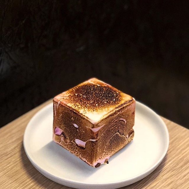 Craving for sweets satisfied with The Dark Gallery's Ombré Pink Frozen S'mores, with strawberry-flavoured marshmallows coating their 80% signature dark chocolate ice cream covered in chocolate shell.