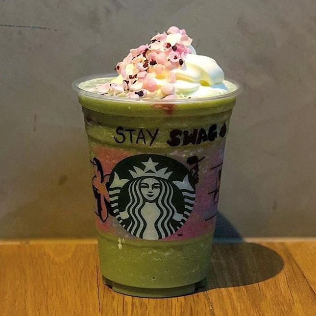 """Modified"" Matcha Azuki Creme Blossom Frappuccino"
