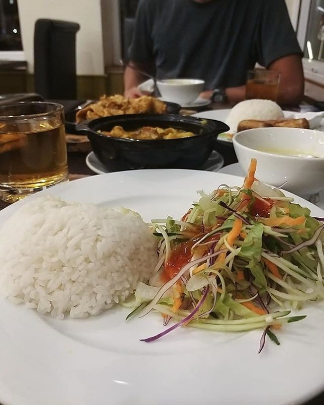 Had our dinner in the hotel because it was raining heavily, shortly after we came back from a long day of trekking to Lao Chai & Ta Van Village.