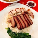 One of my fav hawker foods is charsiu and roasted pork rice!
