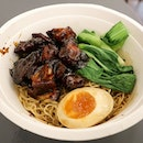 Such a tasty Char's signature char siew on noodle with egg!