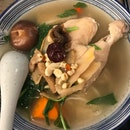 Amazing Herbal Chicken Soup With Handmade Noodles - Perfect For A Rainy Day.