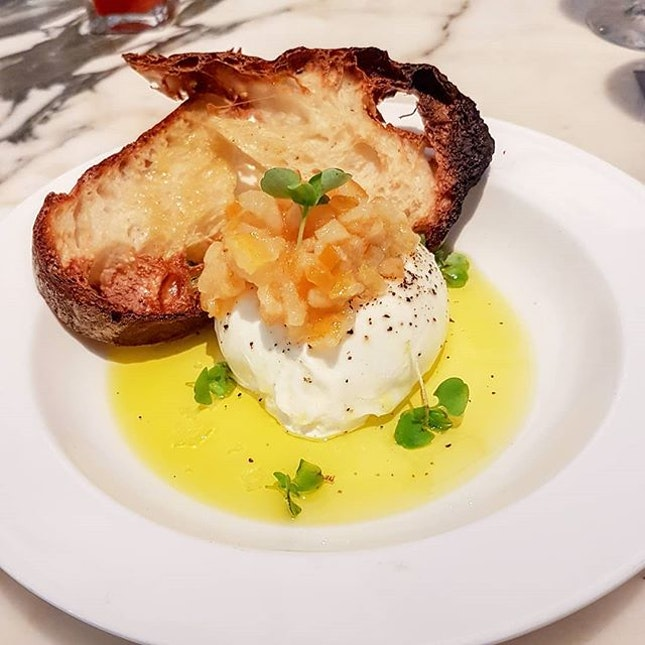 Burrata, Meyer Lemon Jam, Ciabatta Bread, Basil  The best cheese ball ever to bounce in my mouth..boing boing  Definitely a must order if you ever come here..