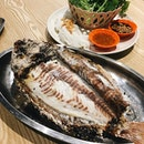 BBQ Tilapia served with Thai Herbs and Vegetables 👌🏼