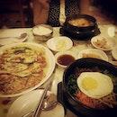 #burpple bibimbap yugaejang and haemul pajeon