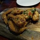 Salted Egg Yolk Chicken Wings