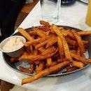 Sweet Potato Fries with Sriracha Mayo ($9.90)