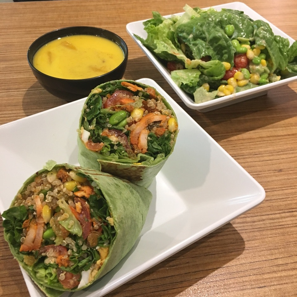 Customisable Salad Wraps