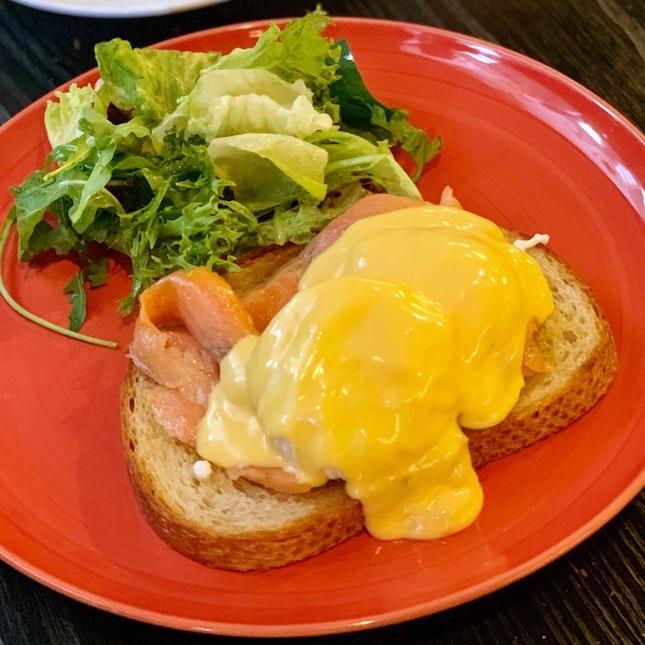 Smoked Salmon Eggs Benedict ($17)