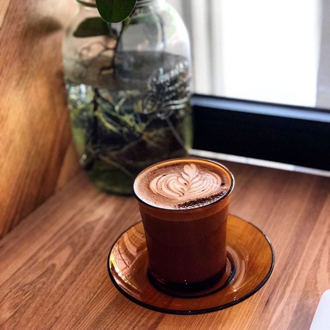 Hot Peppermint mocha ($5.50), a Xmas special from Percolate.