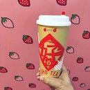 Strawberry Green Tea ($7.60) from @lihosg.