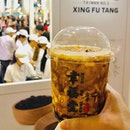 """Stir fried"" Brown Sugar Boba Milk Tea from Takashimaya Pop up stall."