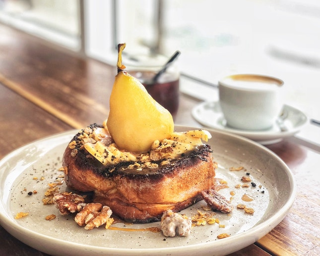 Salted Pear French Toast ($18)