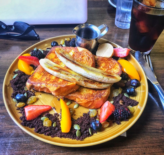 French Toast ($15) & Cold Brew ($6.5)