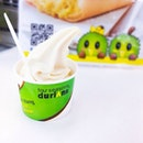 Mao shan wang durian ice cream ($3).