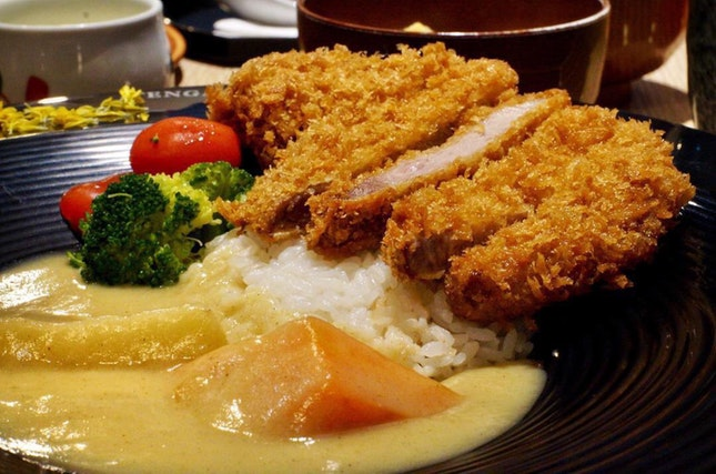 0-4 degree aged Iberiko Loin Katsu with Rice Set ($19.80+ or $16.80+ a la carte)